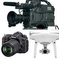 professional video camera / drone